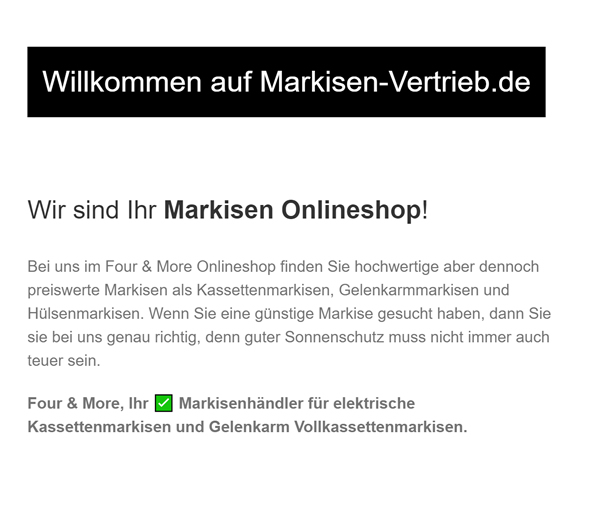 Markisen-Onlineshop in  Stuttgart, Leinfelden-Echterdingen, Ditzingen, Kornwestheim, Ostfildern, Filderstadt, Esslingen (Neckar) und Korntal-Münchingen, Fellbach, Gerlingen